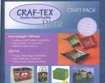Bosal Craf-tex Plus Double Sided Fusible Non-Woven Heavyweight # 437FB-20 - 20in x 36in  - Patterns Sold Separately