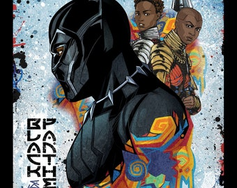 Black Panther Fabric - Wakanda - Springs Creative 67594  - Priced by the 35/36-Inch Panel