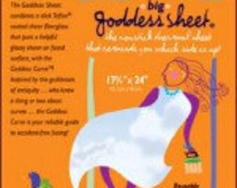 Big Goddess  Applique Pressing Sheet - press sheet Fiberglass Non-stick Ironing & Craft Sheet - 17x24 Reusable sheet