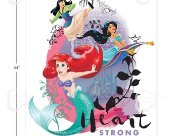 Disney Princess Power - Heart Strong collection - Disney Fabric  - Camelot 85100405JP Sold by the 36-Inch Panel