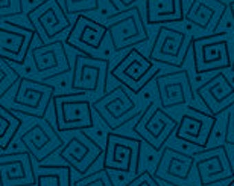 Harmony Blender Fabric - Squares by Quilting Treasures 24779 QB Prussian Blue - Priced by the 1/2 yard