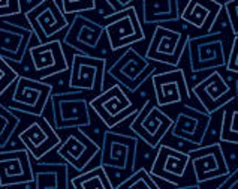 Harmony Blender Fabric - Squares by Quilting Treasures 24779 N Navy - Priced by the 1/2 yard