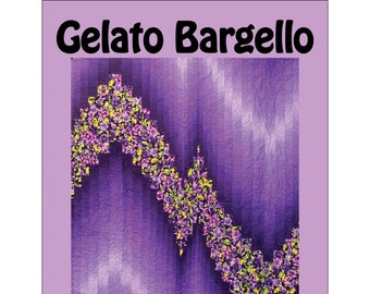 Gelato Bargello - Bargello Quilt - Ombre and focus print Bargello - Design by Ruth Anne Berry - Finishes 40x60 - DYI Project