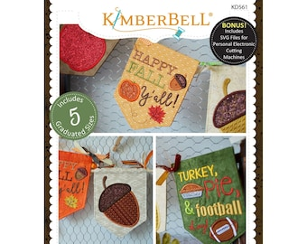Kimberbell Happy Fall Y'All - Kim Christopherson - Machine Embroidery CD - KD 561