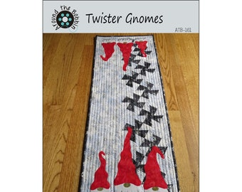 Twister Table Runner - Gnome Table Runner Pattern - Around the Bobbin ATB-161 - Pattern Only - DIY Project