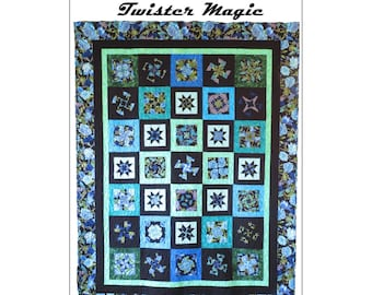 Twister Magic, Quilt Pattern, Pinwheel Quilt - Marilyn Foreman - Pattern Only, DIY Project - Lap/Throw, Twin/Queen