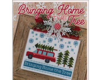 Bringing Home the Tree x-Stitch Pattern Designed by Lori Holt for Its Sew Emma - ISE 410 - Sold by the each - Pattern Only