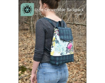 Izzie Convertible Backpack - Around the Bobbin ATB-191 - Pattern Only - DIY Project - Optional Hardware kit