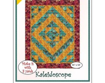 "Fabri-Cafe 3-Yard Quilt - Kaleidoscope - Mystery Quilt Kit - Finishes 46"" x 58"""
