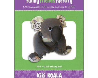 Koala Stuffed Toy Pattern - Funky Friends Factory designed by Pauline - Kiki Koala 4248 - DIY Pattern