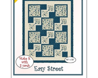 """Fabri-Cafe 3-Yard Quilt - Easy Street - Mystery Quilt Kit - Finishes 46"""" x 58"""""""