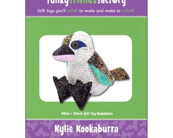 Bird Kookaburra Stuffed Toy Pattern - Funky Friends Factory designed by Pauline - Kylie Kookaburra 2694 - DIY Pattern