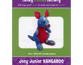 Kangaroo Stuffed Toy Pattern - Funky Friends Factory designed by Pauline - Joey Junior Kanga 4156 - DIY Pattern