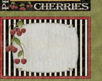 Fruit Panel Fabric, Farmhouse Decor - From the Market Place Mat Panel - Janet Pugh for Wilmington 82417- 91 - 24-Inch Panel - DIY Placemats