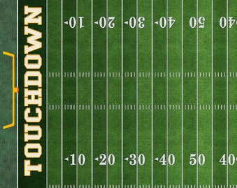 Football Fabric, Ball Field Fabric - Gridiron by Dan Morris - Quilting Treasures - 26173 G Green - Priced by the 24-Inch Panel