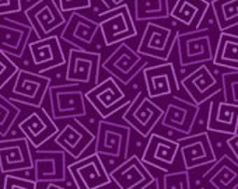 Harmony Blender Fabric - Squares by Quilting Treasures 24779 VM Plum Purple  1/2 yard