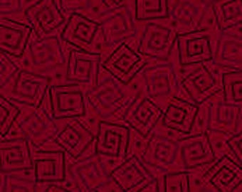 Harmony Blender Fabric - Squares by Quilting Treasures 24779 M Garnet - Priced by the 1/2 yard