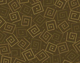 Harmony Blender Fabric - Squares by Quilting Treasures 24779 GF Olive Green - Priced by the 1/2 yard