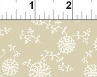 Pinwheel Fabric - Romance Collection by Jason Yenter - In the Beginning Fabric -  8BQR 1 Tan - Priced by the 1/2 yard