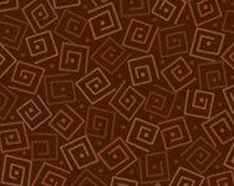 Harmony Blender Fabric - Squares by Quilting Treasures 24779 A Espresso Brown - Priced by the 1/2 yard
