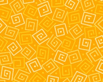 Harmony Blender Fabric - Squares by Quilting Treasures 24779 S Marigold Yellow - Priced by the 1/2 yard