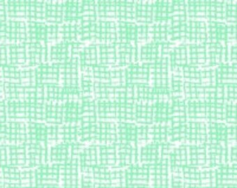 Net Hatch Fabric, Blender Fabric - Net from Dear Stella 370 Apple (Mint Green) - Priced by the 1/2 yard