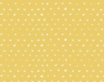 Heart Fabric, Blender Fabric - Hearts from Dear Stella WG301 Gold (Yellow) - Priced by the 1/2 yard