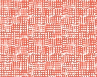 Net Hatch Fabric, Blender Fabric - Net from Dear Stella 370 Marmalade (Orange Red) - Priced by the 1/2 yard