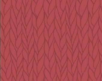 Knit Purl Fabric - Knit N Purl Stitch Texture - Windham  51609 5 Red - Priced by the Half Yard
