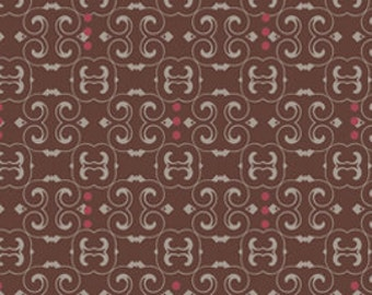Closeout - Dashing Roses Dark Scrolls Fabric by Pat Bravo for Art Gallery Fabrics DR 307 - Sold by the yard