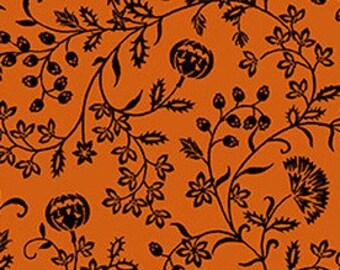 Spooky Night - Pumpkin Vine - Grace Popp for Studio E - 5725 33 Orange - Priced by the 1/2 yard