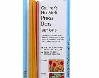 Bias Press Bars, Quilters No Melt, Press Tubes - Collins Acrylic, 5-piece 165C - Applique Tubes