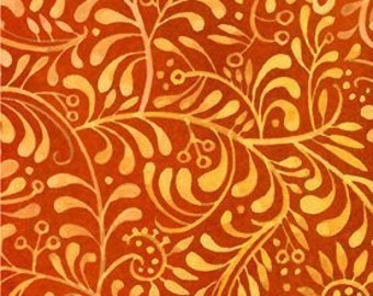 Vines Fabric - Leaf Fabric - Hey Diddle Diddle - In The Beginning Julie Paschkis 9JPJ2 Paprika - Priced by the 1/2 yard