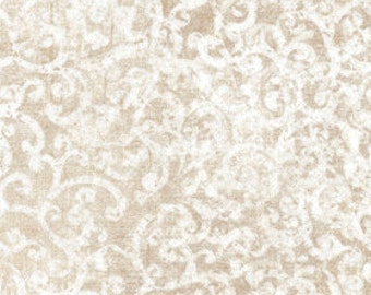 Scrollscape Fabric - Blender Fabric - Dan Morris for Quilting Treasures - 24362 KE Stone (Taupe) - Priced by the Half Yard