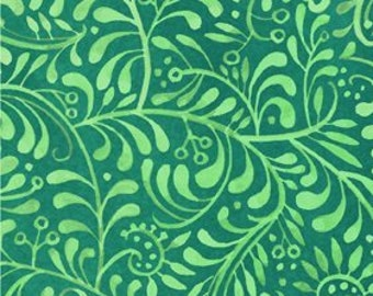 Vines Fabric - Leaf Fabric - Hey Diddle Diddle - In The Beginning Julie Paschkis 9JPJ4 Teal - Priced by the 1/2 yard