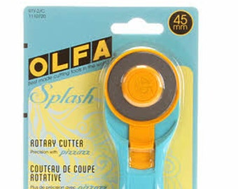 Olfa Splash Rotary Cutter 45mm # RTY2C - Aqua