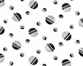 Polka Dot Fabric, Shaded Dot, Tossed Balls - Jolene, Blank Quilting  428 09 Black  - Priced by Half yard