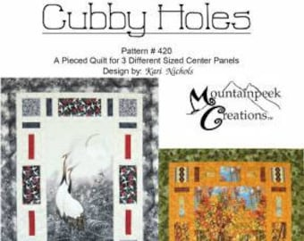Focus Panel Pattern, Cubby Holes Pattern - by Kari Nichols for Mountain Peek Creations - MPC 420