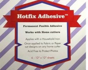 Hotfix Fabric-to-Fabric Adhesive - Medium weight - Precut Sheets 12x12 inch, 6 per pack - HFA-6PK- Applique