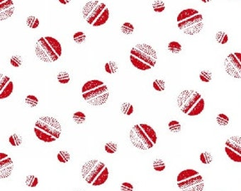 Polka Dot Fabric, Shaded Dot, Tossed Balls - Jolene, Blank Quilting  428 08 Red  - Priced by Half yard