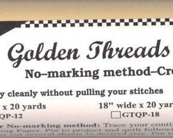 Golden Threads Quilting Paper - Stencil Paper - Machine Quilting - sold by the roll - 12-inch x 20-yard