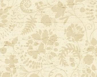 Floral Fabric, Forest Fabric, Tone on Tone Fabric - Wildwood by Windham Fabric  41126 1 Tan - Priced by half yard