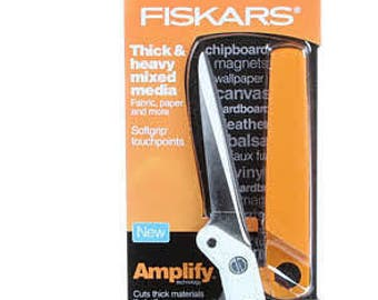 Fiskars Scissors, craft scissors - heavy duty scissors -  Fiskars Amplify® 8-Inch Mixed Media Shears - 7082