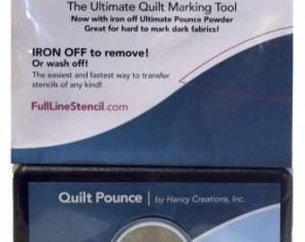Ultimate Quilt Pounce Marking Tool - Iron off or Water Rinse - Case & Powder or Refill - White