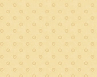 Polka Dot Fabric - Life's a Hoot - Quilting Treasures - 22852 E Cream - Priced by the 1/2 yard