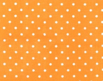 Polka Dot Fabric, Pindot Fabric - Pinhead, Michael Miller Fabric CX 5514 Apricot - Priced by the 1 /2 yard