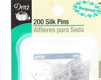 Sewing Pins -Dritz Size 17 - 1 1/16in  Nickel Plated Brass - 27mm - 200 per case