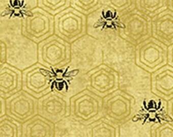 Bee Kind - Honeybee Comb - Paintbrush Studio - 120 99231  - Priced by the 1/2 yard