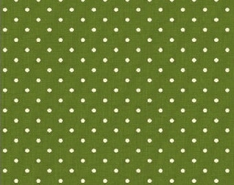 Green Pin Dot - Yuletide Dot by Lisa deBee Schiller for Windham Fabrics - 40400 Green - Priced by the Half Yard