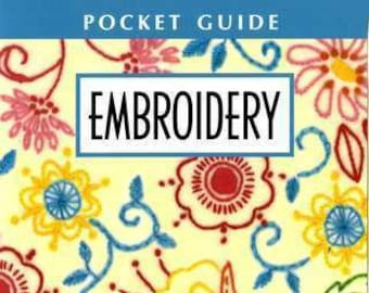 Embroidery Pocket Guide Booklet, Stitch Guide, Stitch Reference - Leisure Arts LA 56019 - Laminated Booklet